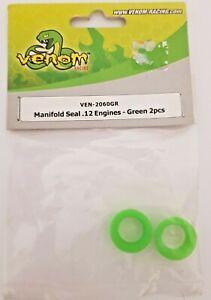 VENOM RC Part VEN-2060 Green (2) Manifold Seal .12 Engines