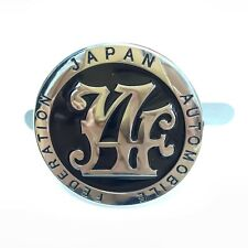 Japan Automobile Federation JAF METAL Emblem Badge For All Cars Front Grille BK