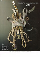 PUBLICITE ADVERTISING 044   1987   HERMES  collection  bijoux
