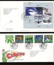 Gb 2002 Año Completo Set Ilustrado Primer Día Tema plantea + Hojas... 15 cubre