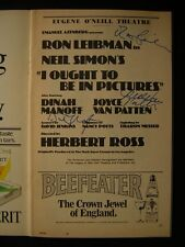 Ron Leibman Dinah Manoff I Ought To Be In Pictures Signed Theatre Playbill 577E