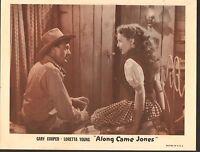 1953 MOVIE LOBBY CARD #1-469 - ALONG CAME JONES - LORETTA YOUNG - GARY COOPER