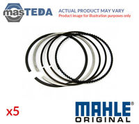 5x ENGINE PISTON RING SET MAHLE ORIGINAL 030 48 N2 I NEW OE REPLACEMENT