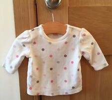 next baby girl Spotty Long Sleeved Top Age 0-1 Month