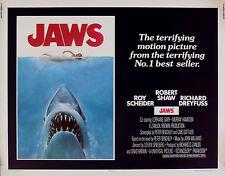 JAWS MINI LAMINATED MOVIE POSTER A4 DREYFUSS SHAW SHARK STYLE 2