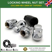 Set Of Locking Wheel Nuts 4 + Key M12X1.5 Bolts For Vauxhall Astra K (2015-21)