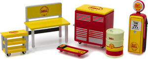 SHELL OIL GARAGE 1:64 (S) Scale ACCESSORIES!