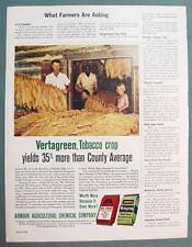 Orig 1962 Armour Fertilize Ad Photo Endorsed by Alvin Hawkins of Hurdle Mills NC