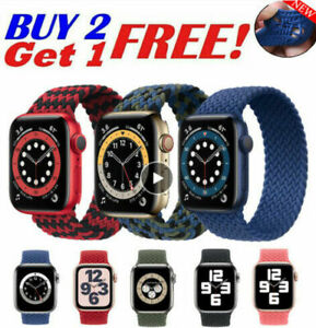 Braided Solo Loop Strap For iWatch Apple Watch Series 6 5 4 3 2 1 SE Nylon band