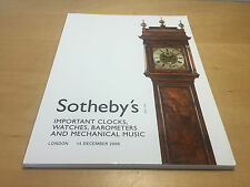 Magazine SOTHEBY'S - Important Clocks, Watches - London 14 December 2006 - ENG