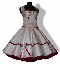 50er Brautkleid zum Petticoat weiß creme rot türkis gelb grün