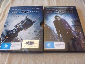 The Dark Knight (2x DVD,2010) Region 4  Christian Bale Limited Edition Steelbook