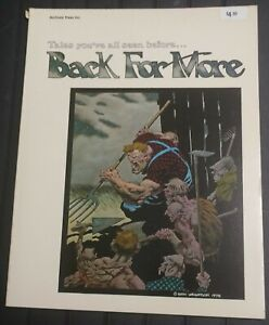 WRIGHTSON , BACK FOR MORE SC ART BOOK, 1978, FIRST PRINT, SWAMP THING, ARCHIVAL…