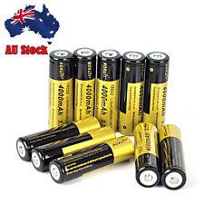 10pcs BORUiT 4000mah 3.7v 18650 Rechargeable Li-ion Battery for Flashlight Torch