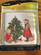 2 Light Switch Plate CHRISTMAS Cover Children Decorating TREE kittens