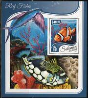 SOLOMON ISLANDS 2017 REEF FISH  SOUVENIR SHEET MINT  NH