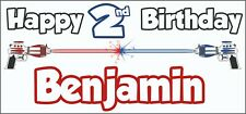 Laser Tag 2nd Birthday Banner x 2 - Party Decorations - Personalised ANY NAME
