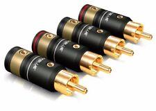 2 Paar (4Stk) Viablue T6s Cinchstecker Schraubversion RCA Plug Screw