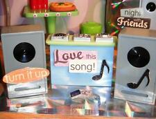 "Lil Bratz Disco DJ Stereo System Equipment Speakers CD fit 4"" Dolls Polly Pocket"