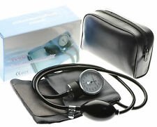 Aneroid Sphygmomanometer Adult Cuff Blood Pressure Monitor Stethoscope Set Bag