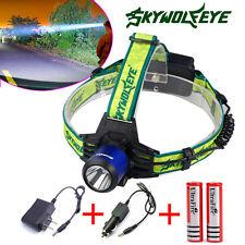 20000lm Skywolfeye CREE XM-L T6 LED Headlamp 2X18650 Head light Torch Flashlight