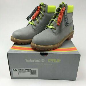 "DTLR x Timberland 6""  PRM Boots TB0A14CD Grey/Neon JR US4.5 NEW RARE"