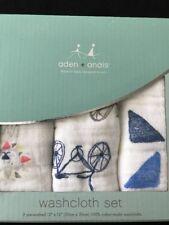 Aden + Anais Leader Of The Pack Washcloth Set NIB