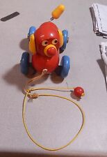 Vintage Brio Wood Dog Pull Toy Made in Sweden  NICE