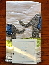 Pottery Barn Kids Baby Toddler Brooks Safari Elephant Quilted Pillow Sham 12X16