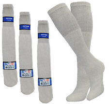 12 PK 25 INCH BIG AND TALL TUBE SOCKS COTTON SOLID GRAY HI CALF LONG SOCKS