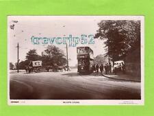 Whipps Cross Tram Horse & Cart Nr Walthamstow Wanstead RP pc used 1929 Ref C111