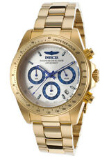 Invicta 17312 Para hombre Speedway Cronógrafo Plata Cuadrante Reloj de acero de oro