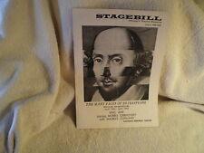 """King Lear""Goodman Memorial Theatre, Chicago Playbill 4/19/64"