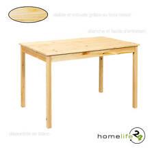Table de cuisine 118 x 75 x 73cm moderne épuré vernis naturel