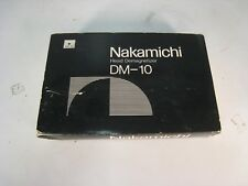Nakamichi DM-10 head demagnetizer with box and manual