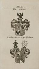 1847 Wappen Adelige von Lacher Lachmiller zu Hofstatt Kupfer von Tyroff