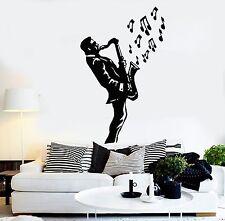 Wall Stickers Vinyl Decal Saxophone Blues Music Jazz Musician Decor (ig1019)