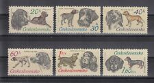 TIMBRE STAMP 6 TCHECOSLOVAQUIE Y&T#1999-2004 CHIEN DOG NEUF**/MNH-MINT 1973 ~B52