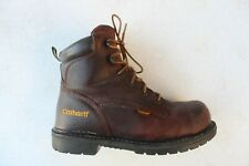 Carhartt 6 Inch Work Boots Steel Toe Brown Leather Men's SIZE 8 D Safety EUR 41