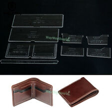 Wallet Template Clear Acrylic Patterns Leather handcraft model WT870 DIY Amateur