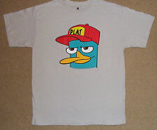 Disney Phineas and Ferb Plat Hat Shirt Large New Authentic Licensed