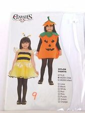 One Size White Opaque Child's Nylon Tights Charades Dance Costumes Halloween