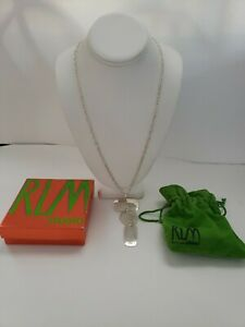 "26"" Sterling Silver RLM Studio Necklace with box and bag"