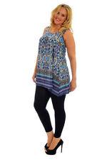 Polyester Paisley Sleeveless Tops for Women