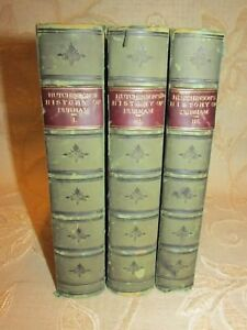 3 Antique Books The History & Antiquities Of The County Palatine Of Durham -1823