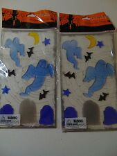 2 Packs Reusable Halloween Gel Clings - Ghosts ,Tombstones - Fall - Party Decor