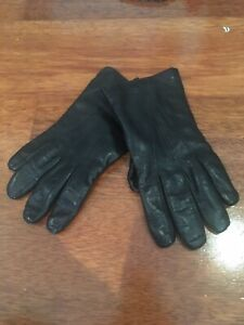 Madova Black Leather Gloves Size 8.5