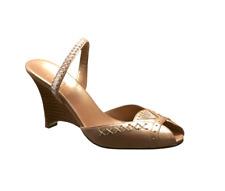 Cole Haan Women's Lissa.Wedge Wedge Sandal, Beige US 8.5 B