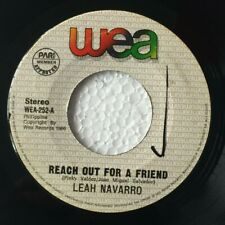 """LEAH NAVARRO Reach Out For A Friend / Minus One PHILIPPINES OPM 7"""" 45 Records"""