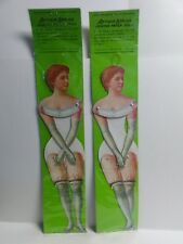 """Antique Replica Jointed Paper Doll Lady Woman No. 3519S 1980's Shackman N.Y. 14"""""""